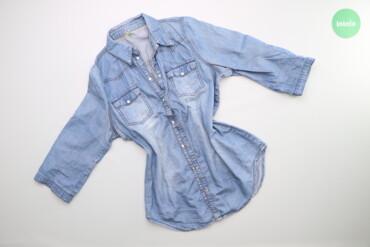 Рубашки и блузы - Цвет: Голубой - Киев: Жіноча джинсова сорочка Denim Co, p. M    Довжина: 72 см Ширина плечей
