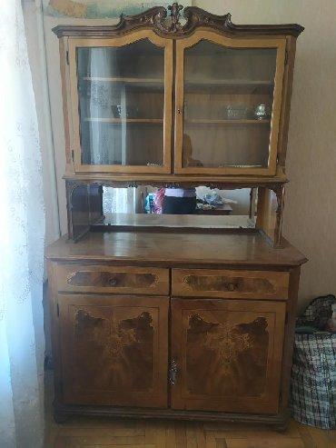 буфет кухонный в Азербайджан: Продается буфет, антикварный, все на месте, стекла целые
