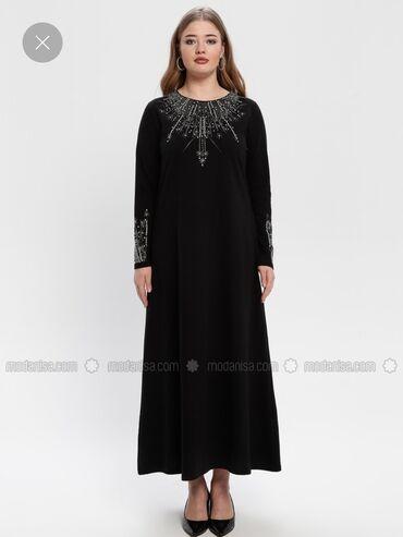 велюровое платье миди в Кыргызстан: Вечернее платье украшено стразами, сидит идеально по фигуре, смотрится