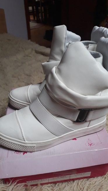 Bele cipela patke na platformu,nove samo jednom nosene,super udobne . - Pancevo