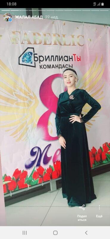 зелёное вечернее платье в Кыргызстан: Продаю платье изимурудный свет