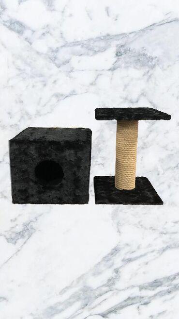Домик с когтеточкой и лежанкой   Домик: высота -39 см ширина - 45 с