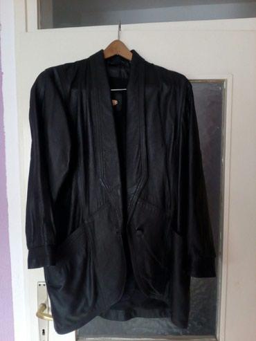 Kožna jakna Mirjana Marić veličina 46 za dame sa krupnijim ramenima - Vrbas