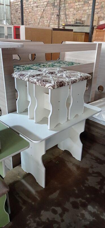 Продаю новый стол табуретки сена 3000 сом