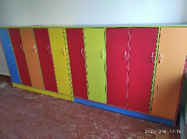 Шкафы раздевалки для детского сада. Пятистворчетый
