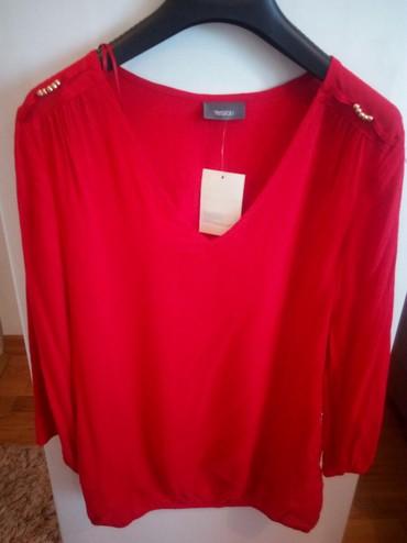Crvena-haljina-marke - Srbija: Nova,crvena bluza,marke C&A.Veličina 36