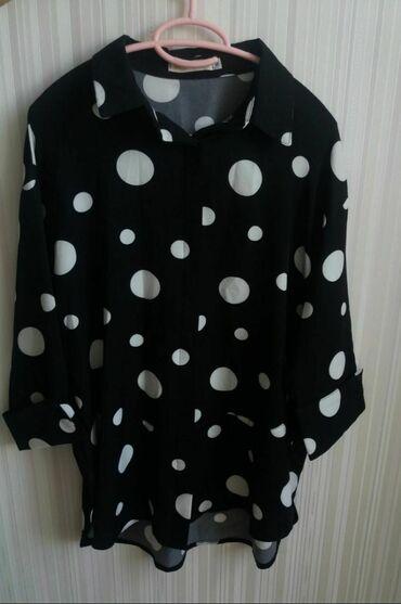 блузки-рубашка в Кыргызстан: Стильная рубашка от известного турецкого бренда - Modanisa для милых