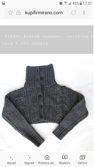 DIESEL kratak džemper, veličina XXS,nema tragove nosenja - Beograd