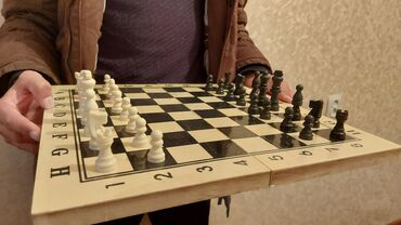 итальянские шелковые платья в Кыргызстан: Шахматные фигуры, дешёвые, качественные // новые  Размер: 40 см × 40 с