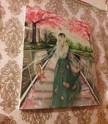 Искусство и коллекционирование в Азербайджан: Ressim əl işidi yağlı boyayla çəkilib