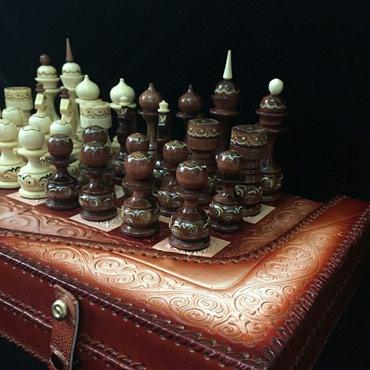 Шахматы ручная работа из кожи( Бакай Классические) оптом и в