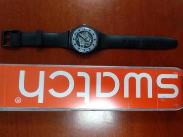 часы дешок в Кыргызстан: Черные Унисекс Наручные часы Swatch