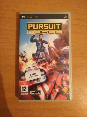 PSP (Sony PlayStation Portable) - Azərbaycan: Sony Psp oyunu Pursuit Force İşlək vəziyyətdə Əlaqə WhatsApp
