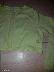 Okaidi bolero dzemper svetlo zelene boje za devojcice broj 4 - Beograd