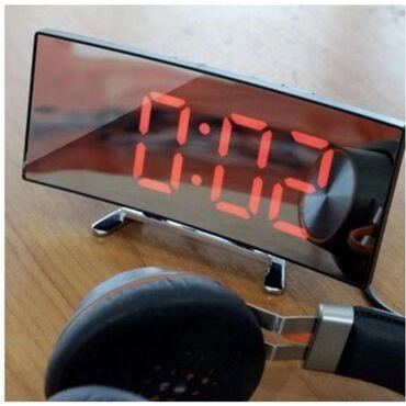 Kućni dekor - Kopaonik: Digitalni led sat DT-6507 sa zakrivljenim ogledalom - CRVENOU ponudi