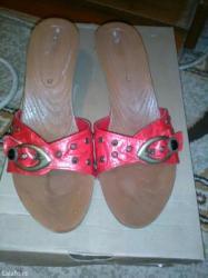 Zenske crvene papuce na malu stiklu br. 38 - Vrsac