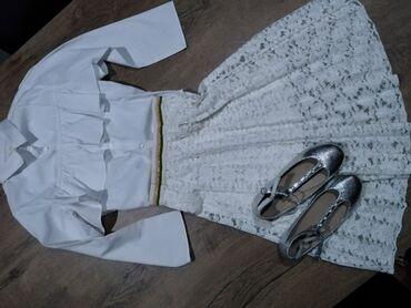Dečija odeća i obuća - Nova Pazova: Suknja Zara kids vel 8, košulja Zara kids vel 8, baletanke Zara kids