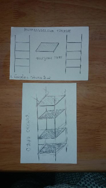 Сборные железные стеллажи ( склад) 23 секции Размер высота 3 м длина