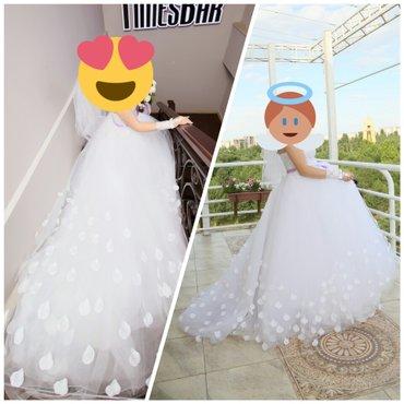 Свадебное белоснежное платье со в Бишкек