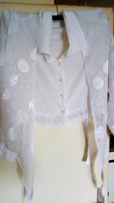 Nova Italijanska bluza sa naramenicama..Kombinacija svile i - Kraljevo