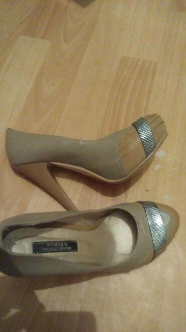 женская обувь новое в Ак-Джол: Женские кожаные туфли б/у из Турции, почти новая пару раз одевала!