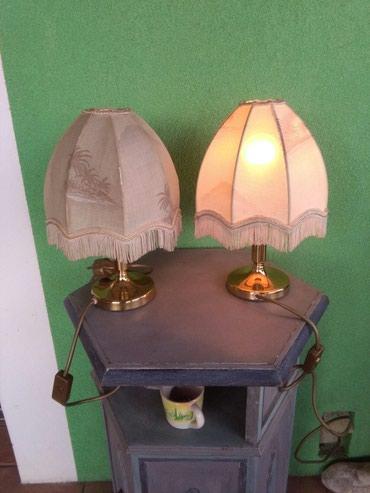 Lampe za nocni ormaric dva komada 3500 mesing I prelepi abazuri,vidi - Sombor