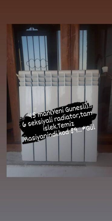 Wp yazin. ✔45 man(Yeni Gunesli). 6 seksiyali radiator,tam