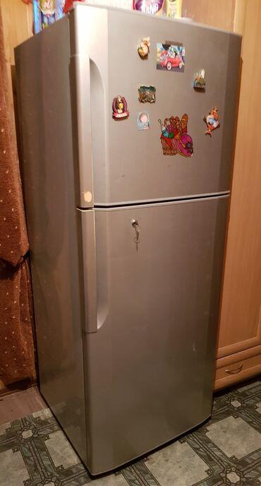 hitachi 320 gb в Кыргызстан: Б/у Двухкамерный Серебристый холодильник Hitachi