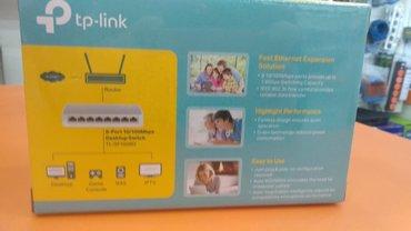 Bakı şəhərində 8portlu Tp-Link swetch router yeni bagli upakofkadadi.