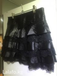Черная кожаная юбка с в Бишкек
