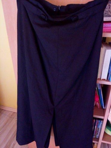 Duga leprsava haljina - Kraljevo: Crna suknja duga. Vel. 42. Slic napred i pozadi