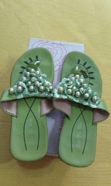 Papuce iz pariza - Srbija: Papuce iz Italije jednom obuvene sa perlicama br 39 mnogo su lepe i