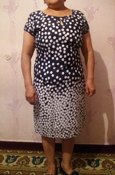 летнее платье 54 размера в Кыргызстан: Платье летнее абсолютно новое, ни разу не одевали. Размер 54, ткань