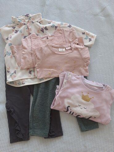 Pantalonice - Srbija: Pidzamica, 2 Zara majice dugih rukava, 2 pantalonica i H&M duks