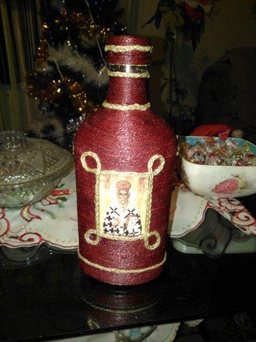 Flasa za rakiju sv. Nikola ukrasna rucni rad. Po narudzbini radim i - Razanj