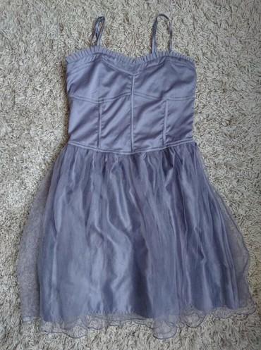 Kozna-tasna-sive-boje-placena- - Srbija: Predivna koret haljina sive boje. Velicina je L. bez ostećenja kao no