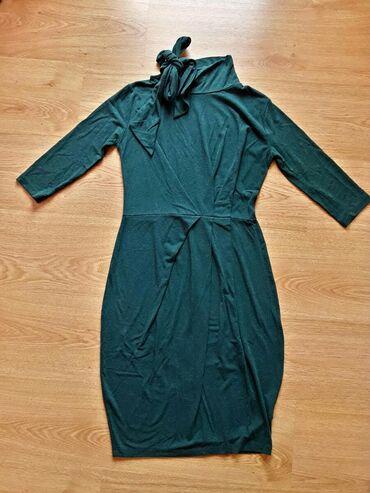 H-m-zelena-kosulja-sa-kristalnim-detaljbroj - Srbija: Zelena haljina italijanska S/M viskoza sa elastinom