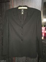 Crni zenski sako, vrlo malo nosen, ne guzva se, prelepo stoji, broj 38 - Paracin