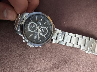 Серебристые Мужские Наручные часы Seiko