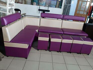 Комплекты столов и стульев в Кыргызстан: Кухонный уголок любая расцветка есть +стол 2 метровый