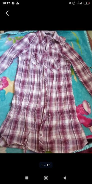 Женская одежда - Мыкан: Рубашка туника 44-46 раз хб материал одам почти даром