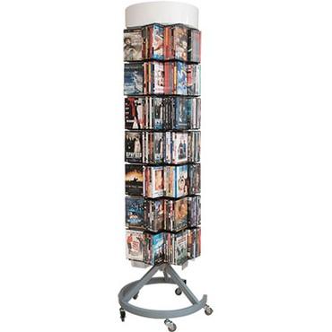 стеллаж шкаф в Азербайджан: Стойка-стеллаж восьмигранная для продажи книг, CD, DVD дисков в