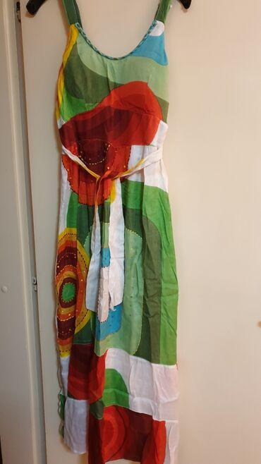 Duga leprsava haljina - Crvenka: DESIGNUAL HALJINA DUGACKA MADE IN ITALY-HITNO