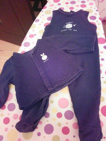 Xırdalan şəhərində костюмчик для новорожденного б/у ,тёплый слипик и кофта на 6месяцев
