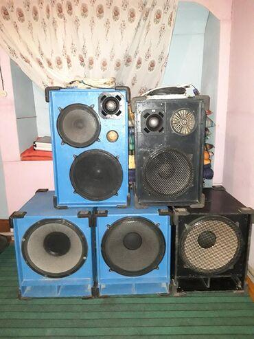 Динамики и музыкальные центры в Кызыл-Кия: Продаётся акустика в идеальном состоянии цена договорная обмен на маши