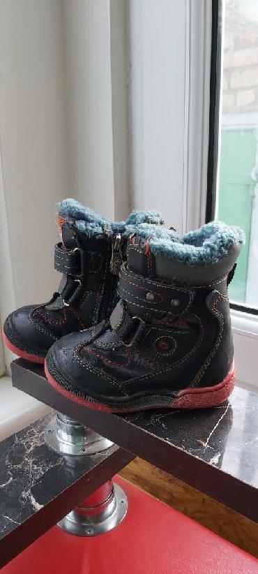 черный замшевая туфли в Кыргызстан: Детские Зимнее сапожки . Мех натуральный. Тёплые. Состояние очень хо