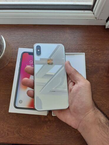 IPhone X | 64 GB | Ağ | İşlənmiş | Face ID, Sənədlərlə