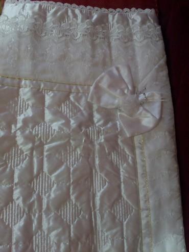 Prelep beli letnji pokrivac za novorodjence  67×67 cm, za devojcice, - Novi Pazar