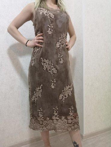 льняные вязаные платья в Кыргызстан: Платье летнее из натурального шелка размер s. Италия. Одевала пару раз