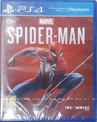 Bakı şəhərində PS4 üçün 'Spider-man' oyun diski. Yenidir. PS4 lentli bağlamada.